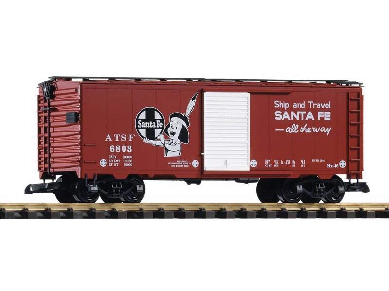 Geschlossener Güterwagen der Santa Fe Railroad, Spur G