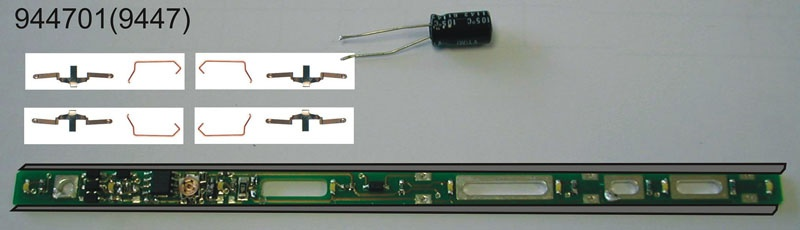 LED-Innenbeleuchtung, Ersatz für 9447 Spur N