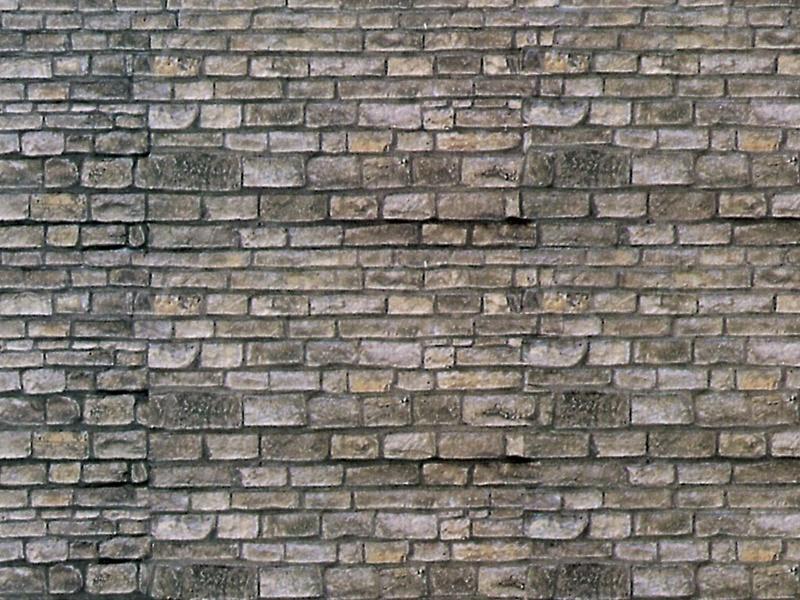 Mauerplatte Mauerstein aus Karton, 25 x 12,5 cm, Spur N