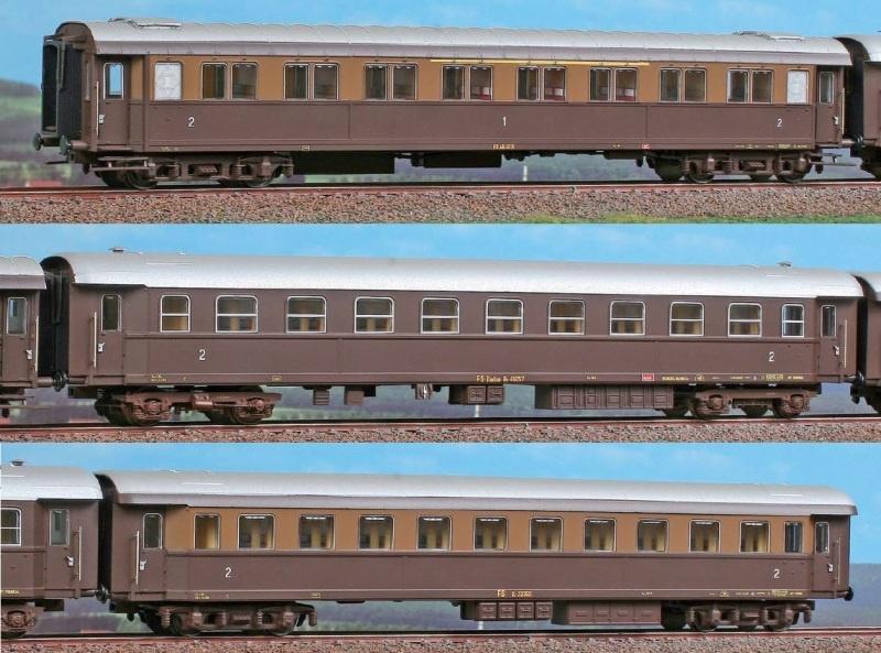 Reisezugwagen-Set Treno del sole der FS, Set C, Ep.III, H0