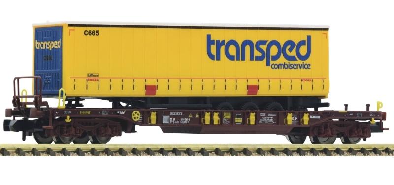 Taschenwagen T3, Transped Auflieger, AAE, DC, Spur N