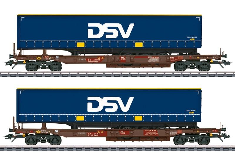 Taschenwagen-Set AAE/DSV, AC, Spur H0