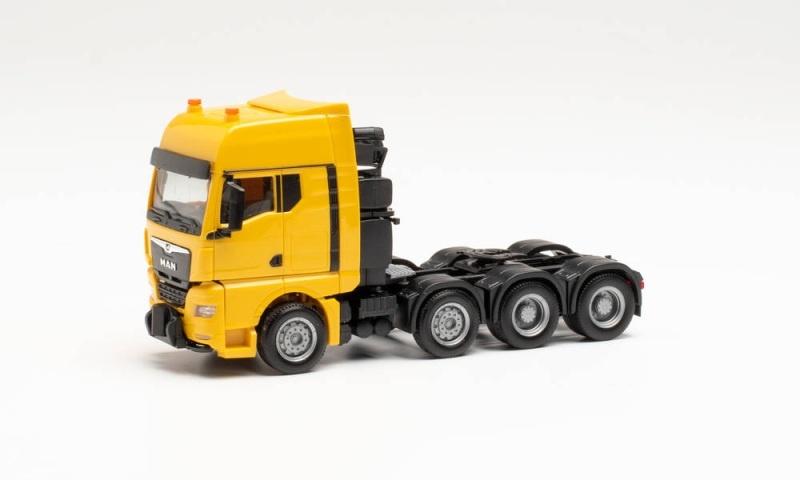 MAN TGX GX Schwerlastzugmaschine, Gelb, 1:87 / Spur H0