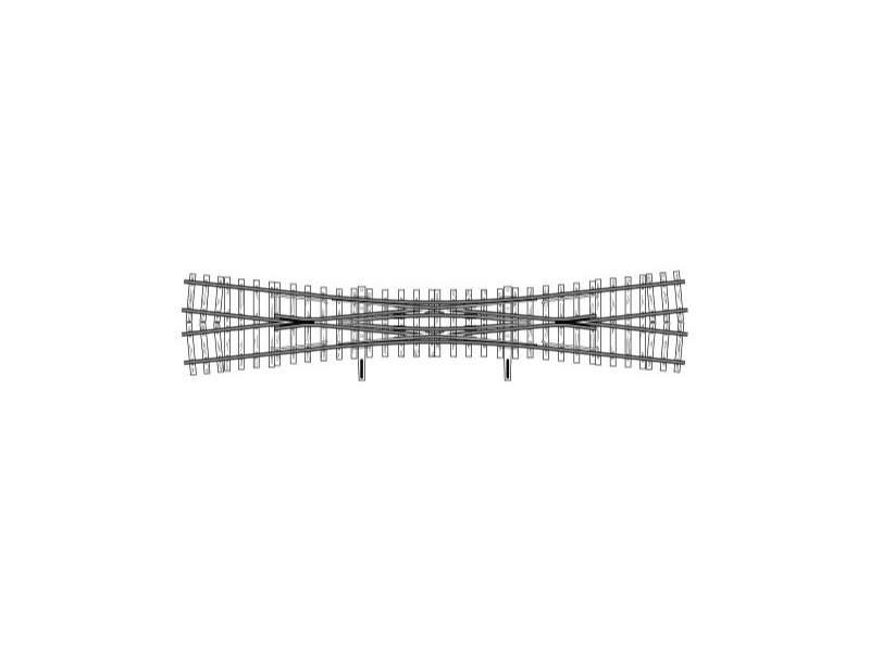 Doppelkreuzungsweiche, 12°, 231 mm, Spur H0m