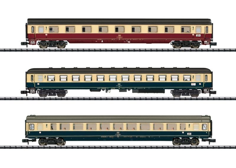 Schnellzugwagen-Set IC 611 Gutenberg, DB, Minitrix Spur N