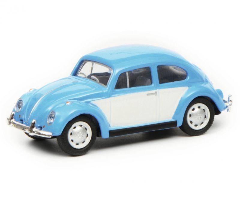 VW Käfer, blau weiß, 1:87 / Spur H0