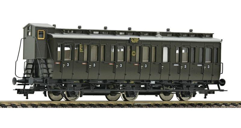 3-achsiger Abteilwagen 3. Kl. Bauart C3 pr11 der DRG, DC, H0