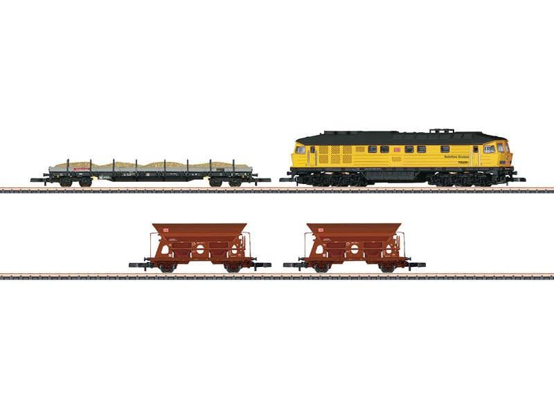 Zugpackung Bauzug DB Bahnbau BR 233 1x Lok, 3 Wagen Spur Z