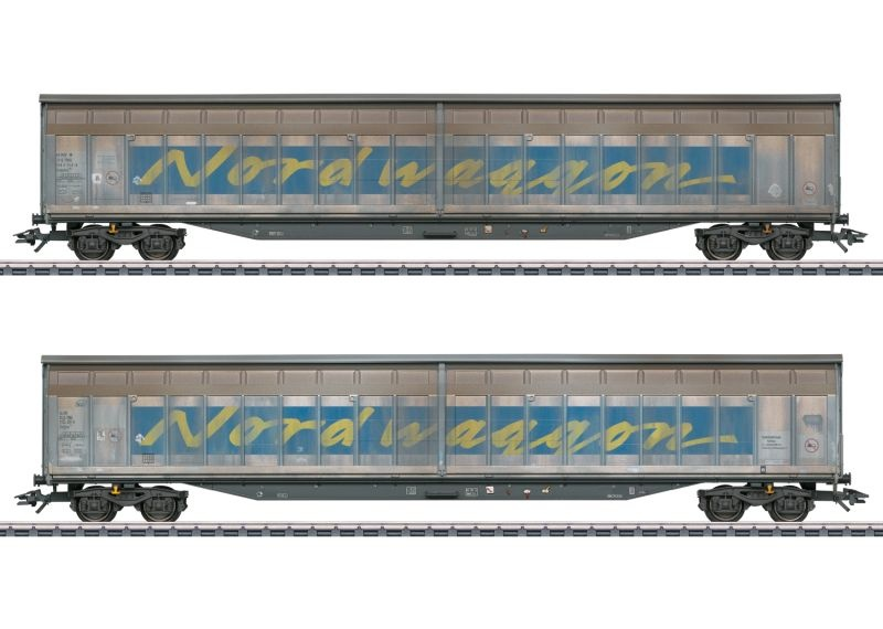 Schiebewandwagen-Set Transwaggon, AC, Spur H0