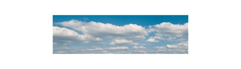 Hintergrundkulisse Wolken, vierteilig, 266 x 80 cm