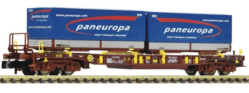 Taschenwagen T3 der AAE + Paneuropa-Wechselpritsche, Spur N
