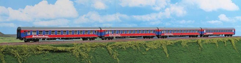 Personenwagen-Set Bahn Touristik Express, 4-tlg,Set A, H0