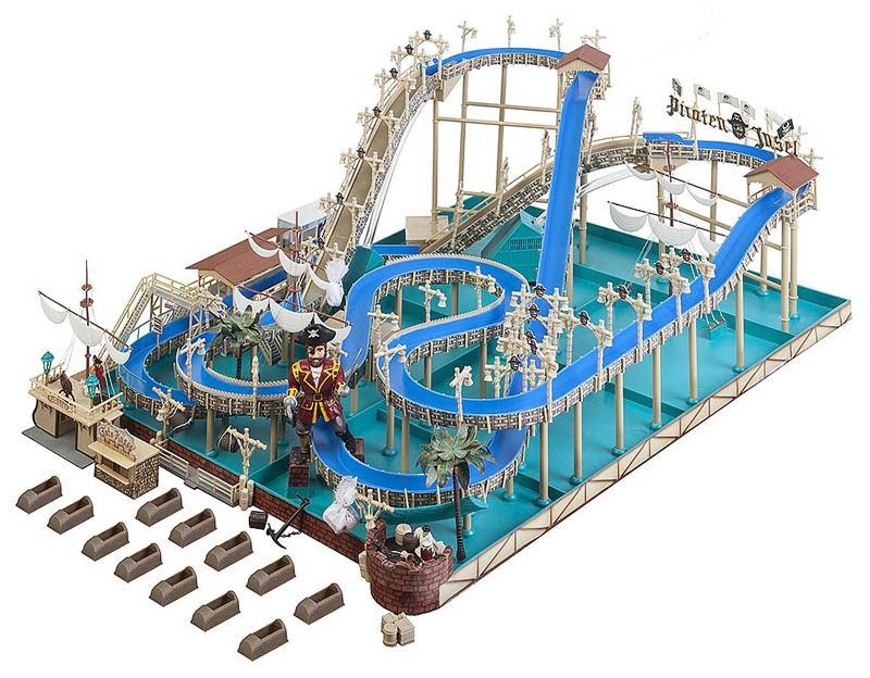 Kirmes Wildwasserbahn Pirateninsel Bausatz H0