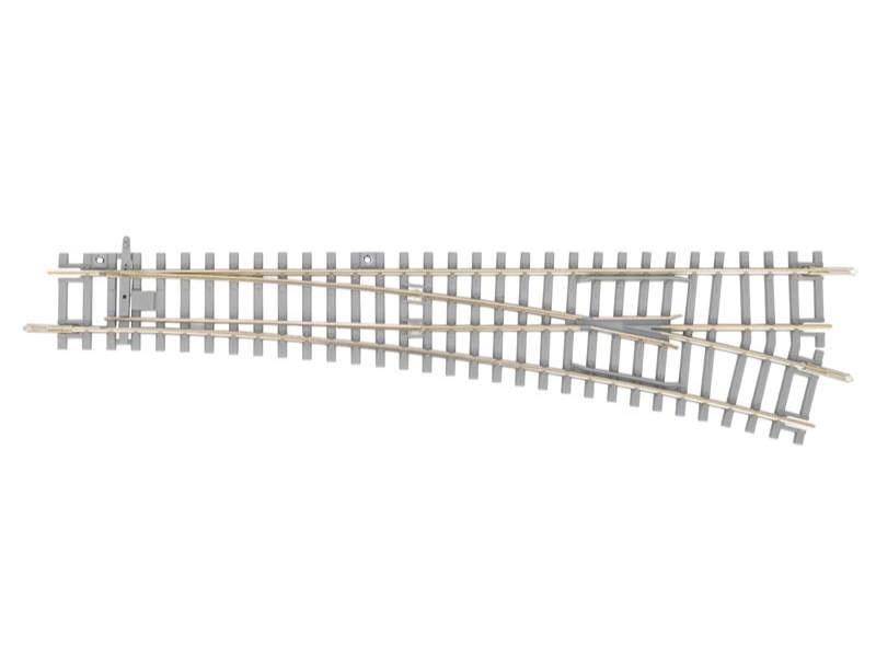 Weiche rechts mit Betonschwellen, A-Gleis, Spur H0