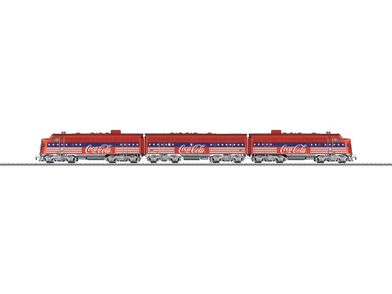 Diesellokomotive F7 EMD F7 ABA Coca Cola Sound mfx+ H0