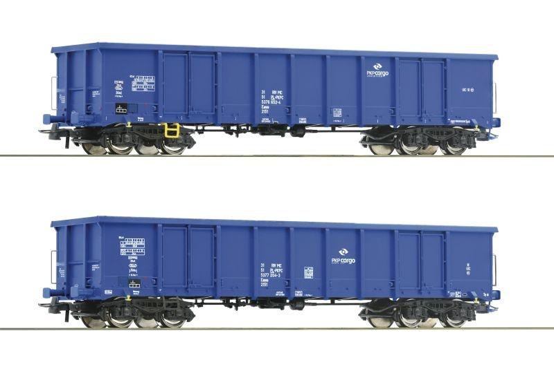 2-tlg. Set: Offene Güterwagen der PKP Cargo, DC, Spur H0