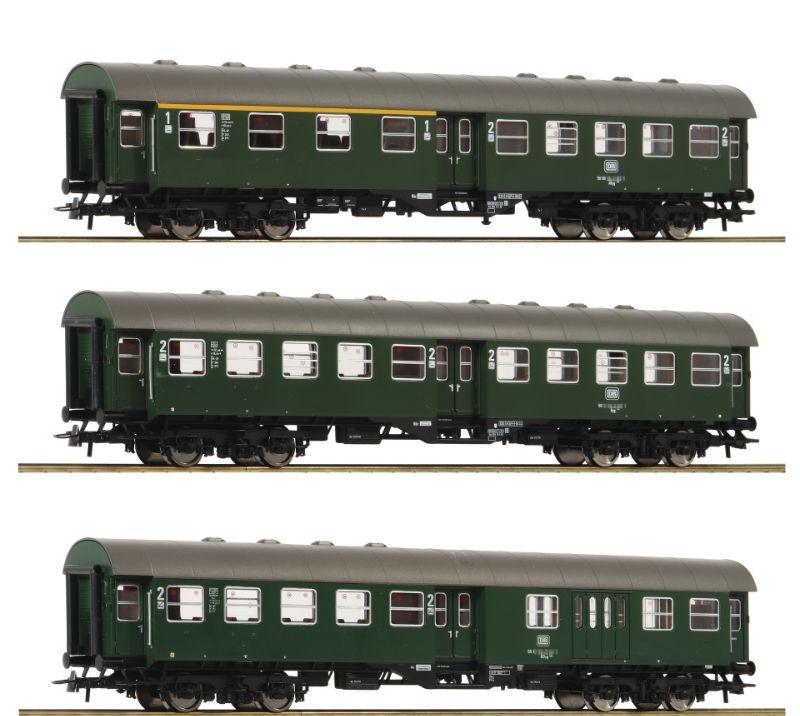 Umbauwagen-Set der DB, 4-achsig, Epoche IV, Spur H0