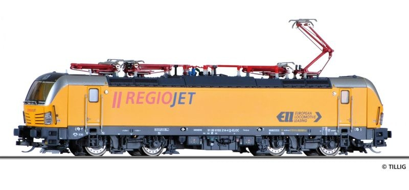 Elektrolokomotive BR 193 der RegioJet a.s., Spur TT