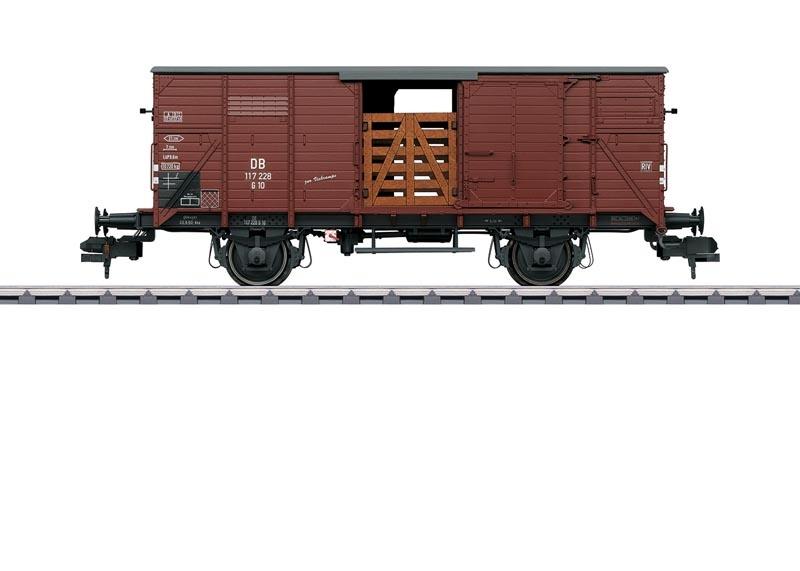 Güterwagen Viehtransport G 10 der DB, Spur 1