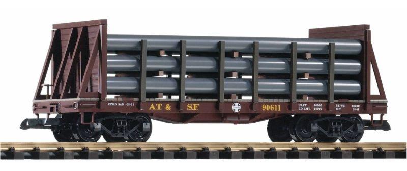 Rungenwagen mit Beladung der Santa Fe Railroad, Spur G