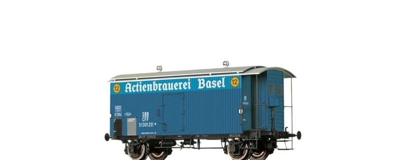 Gedeckter Güterwagen K2 Actienbrauerei Basel, SBB, DC, H0