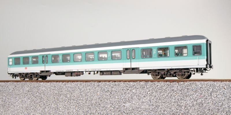 n-Wagen Silberling Bnrz451, 2. Kl., DB, minttürkis, DC, H0