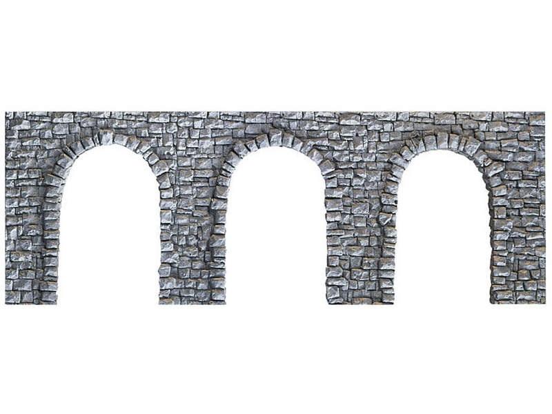 Arkadenmauer, offen, 19 x 9 cm Spur N