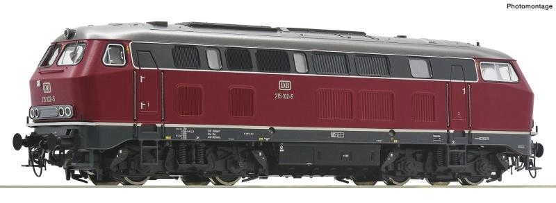 Diesellokomotive BR 215 der DB, DC, Spur H0