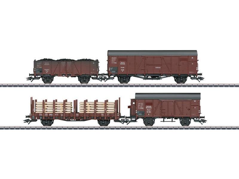 Güterwagen-Set mit 4 Wagen DRB H0