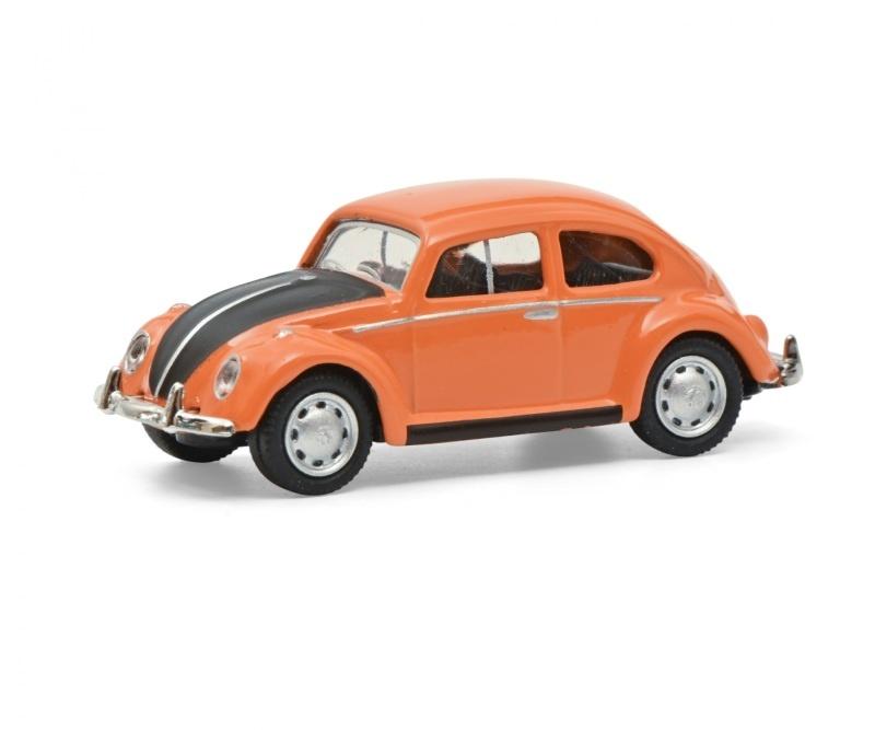VW Käfer orange/schwarz 1:87 / Spur H0