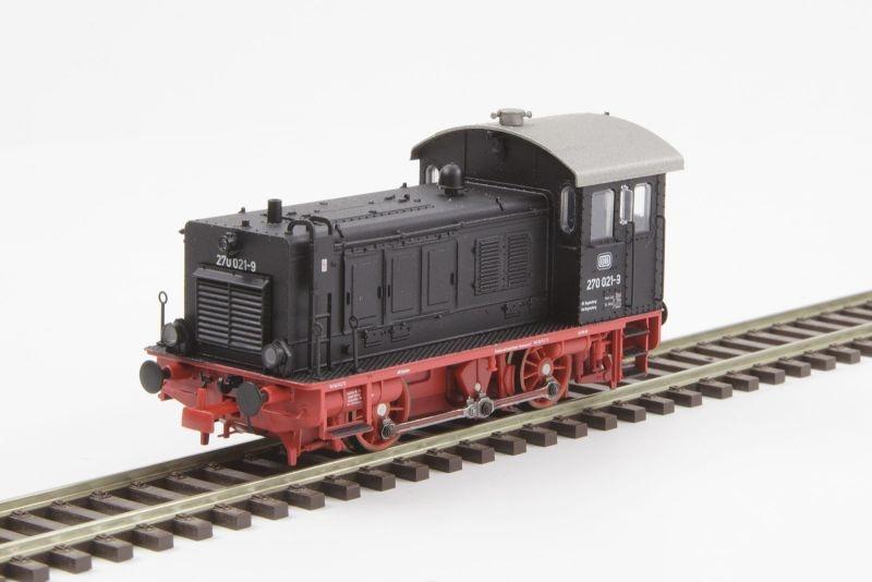 Diesellokomotive BR270 021-9 der DB, Ep. IV, DC, Spur H0