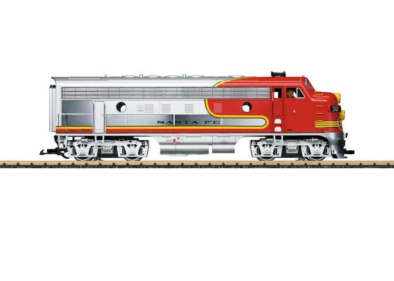 Diesellok F7 A Santa Fe, Sound, mfx, DCC, Spur G