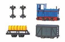 Lokomotiven, Wagen und Zubehör