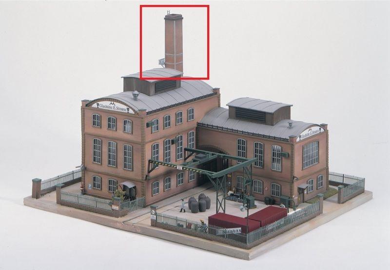 Fabrikschornstein für Glashütte, Bausatz, Spur H0