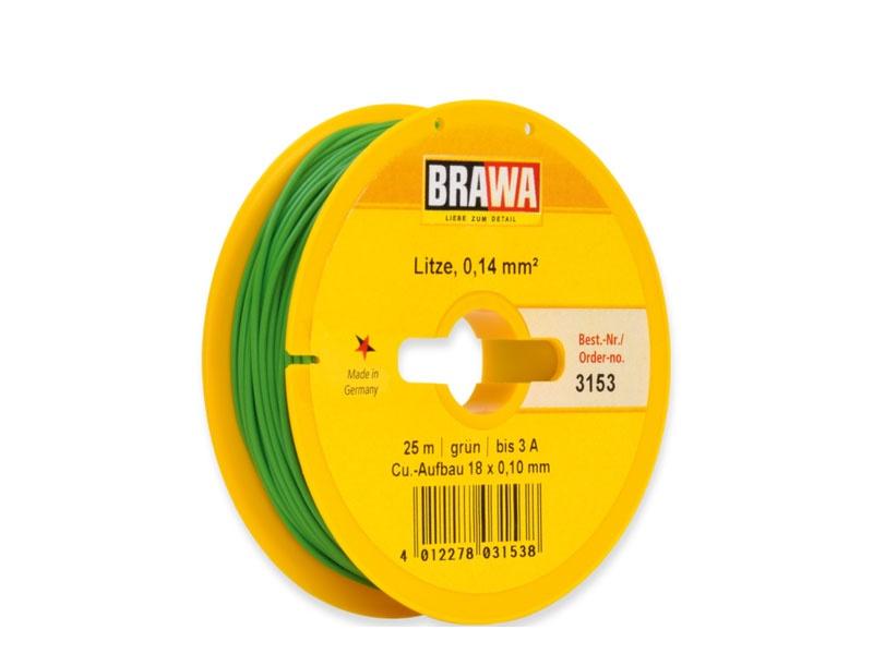 Schaltlitze 0,14 mm², 25 m Spule, grün