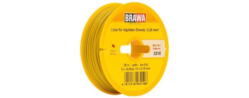 Einzelader 0,25 mm², 25 m Spule, gelb