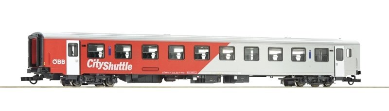 City Shuttle Nahverkehrswagen 2. Klasse, ÖBB, DC, Spur H0