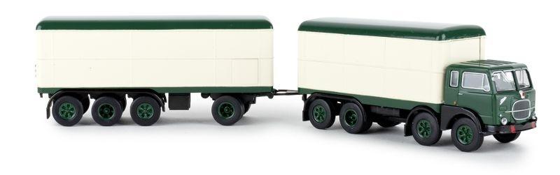Fiat 690 Millepiedi dunkelgrün, weiss, 1:87 / Spur H0