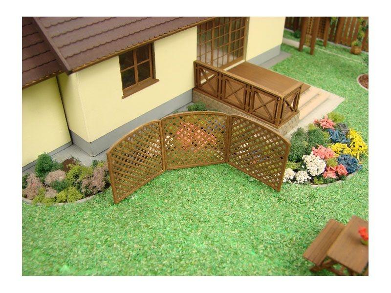 Garten Trennwand III Laser-Cut Bausatz, Spur H0