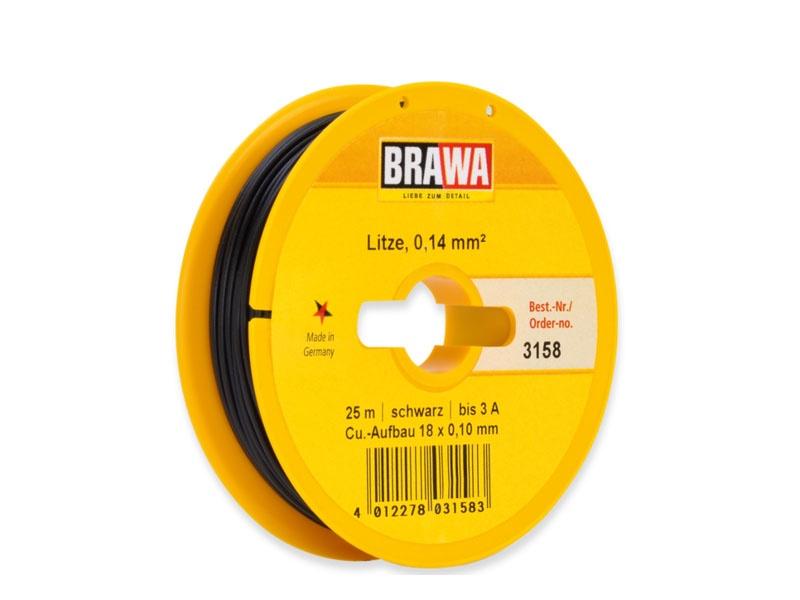 Schaltlitze 0,14 mm², 25 m Spule, schwarz