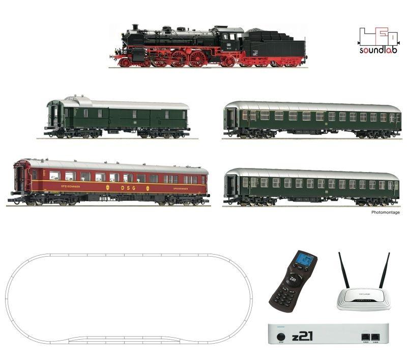 z21 Digitalset: Dampflokomotive BR 18.6 mit D-Zug der DB, H0