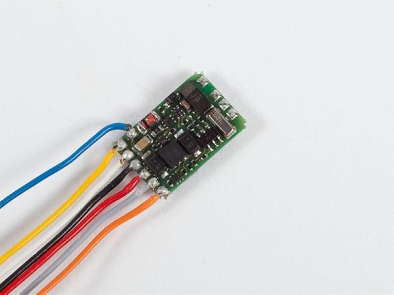 Lokdecoder Silver mini+, 0,5 / 0,8A, mit Kabel
