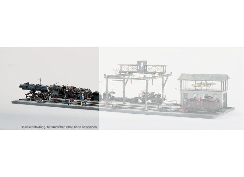 Bansen für Lok-Schrottplatz, Bausatz, Spur H0
