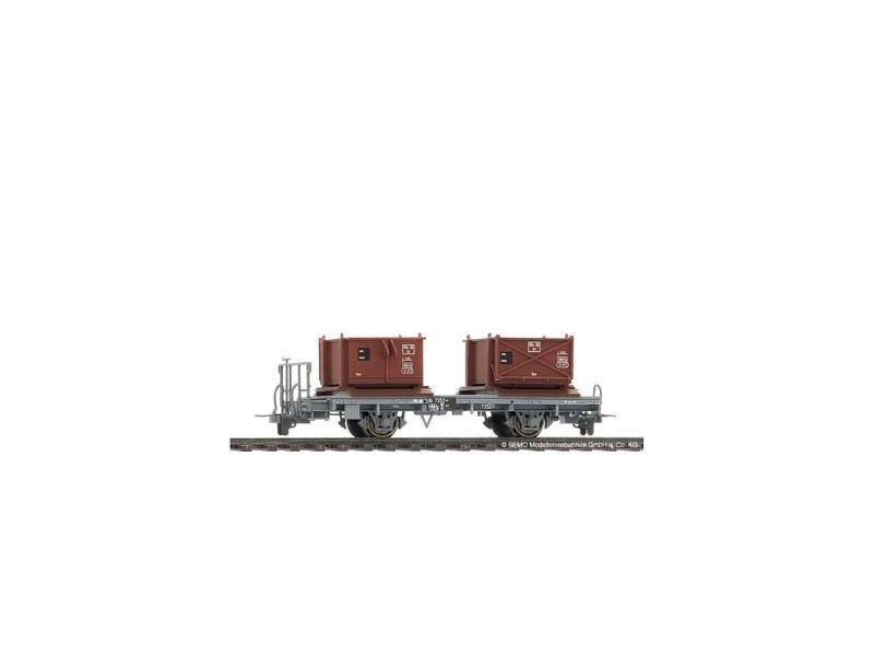 Kieskistenwagen Kk 7352 der RhB, Spur H0m