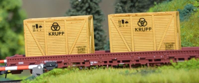 Set aus 2 Überseekisten KRUPP, Spur N