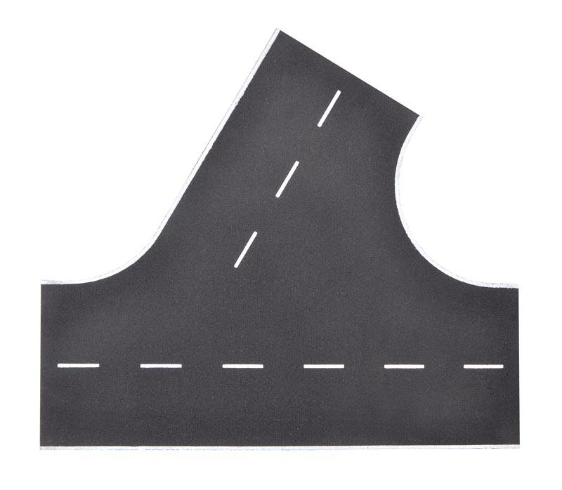 Straßenplatte Asphalt, 60°-Einmündung, Spur H0