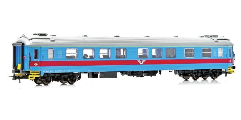 Topline Personenwagen A2K.5043 1. Klasse der SJ, Spur H0