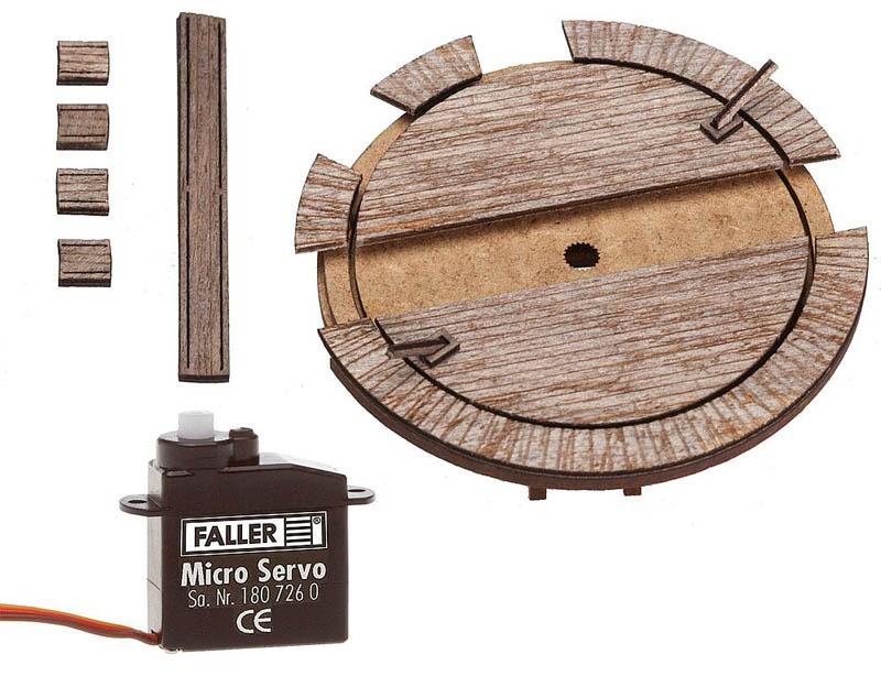 Kleine Waggondrehscheibe mit Servoantrieb Bausatz N, Z
