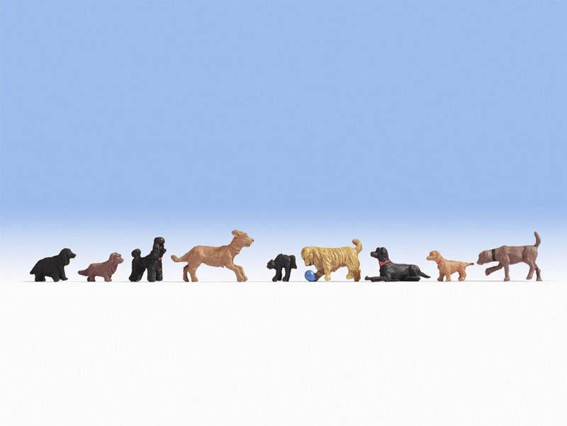 Hunde Figuren Spur H0