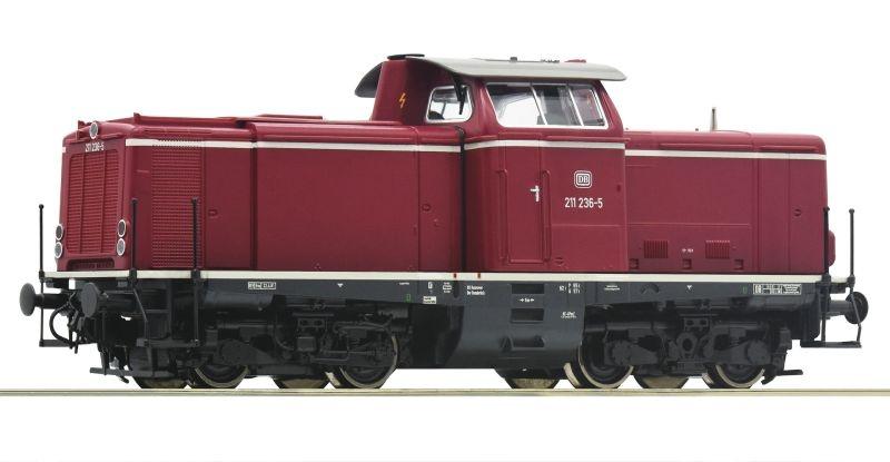 Diesellokomotive BR 211 der DB, DC, Spur H0